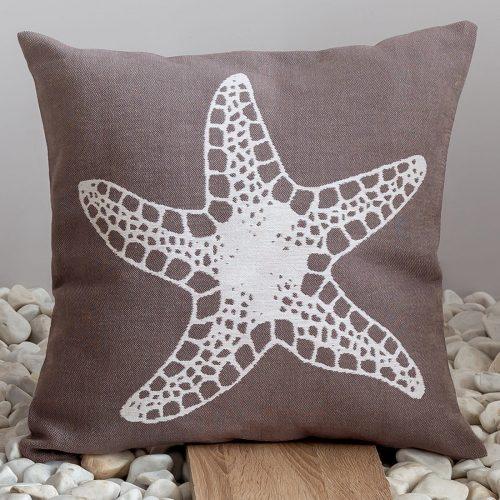Чехол на подушку на молнии с хлопком Морская звезда